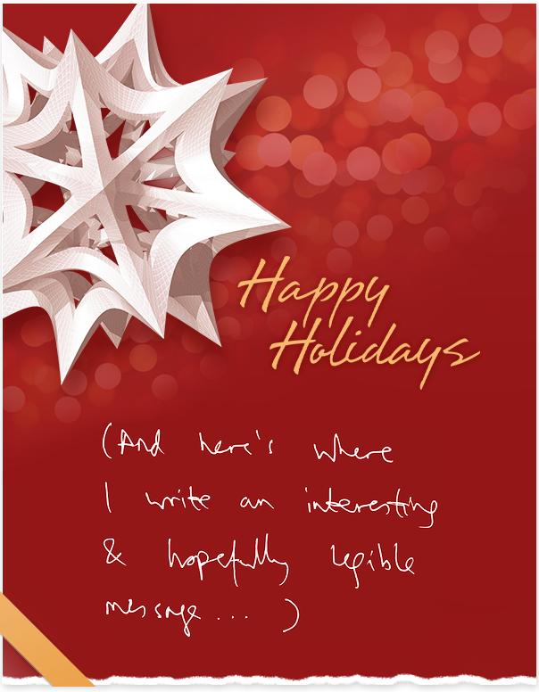 My 2013 handwritten holiday e-cards