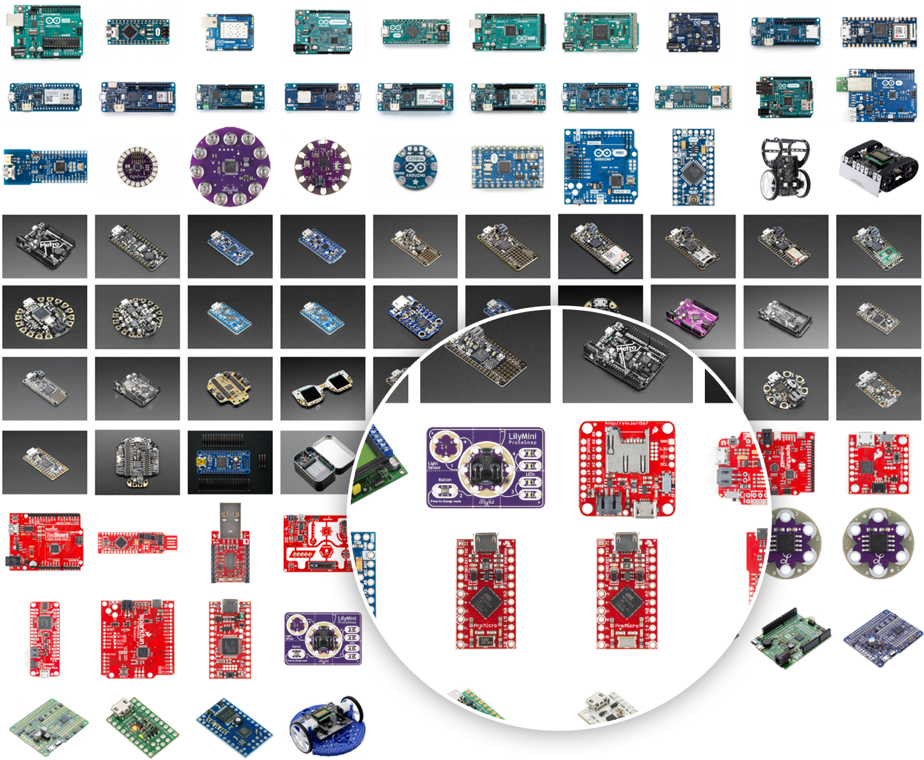 Supported microcontrollers