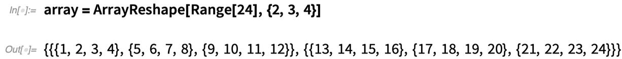 array = ArrayReshape