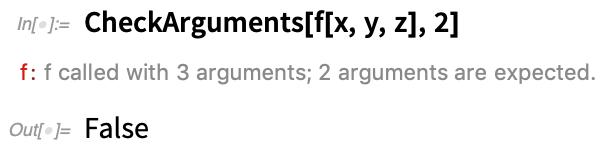 CheckArguments