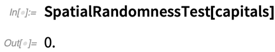 SpatialRandomnessTest