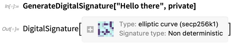 GenerateDigitalSignature