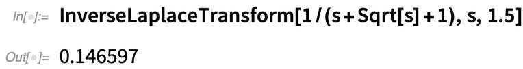 InverseLaplaceTransform