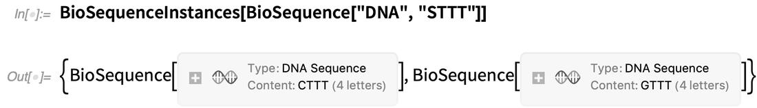 BioSequenceInstances