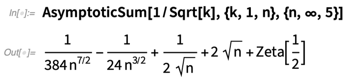 AsymptoticSum