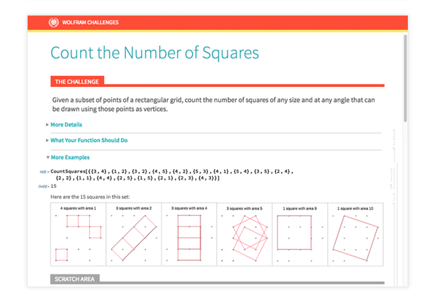 Count the Number of Squares Challenge