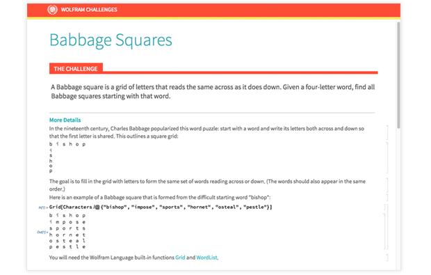 Babbage Squares Challenge