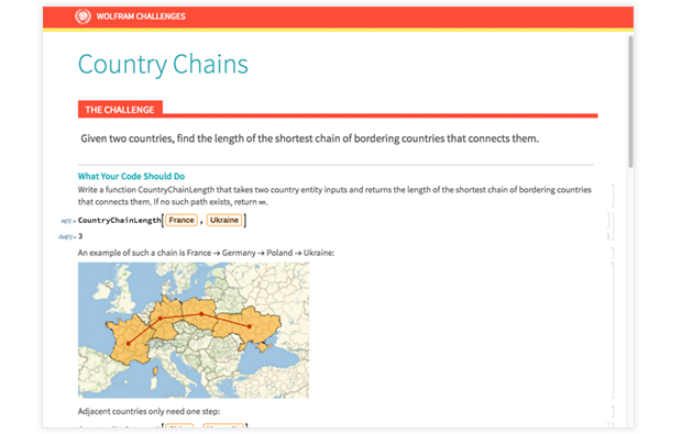 Country Chains Challenge