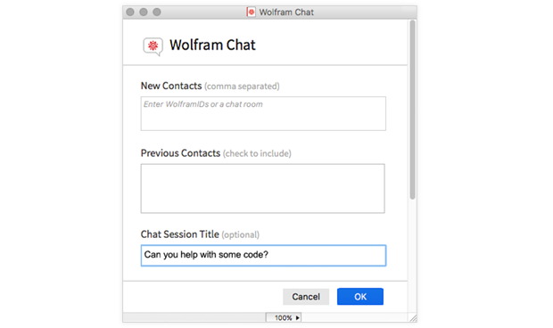 Chat invite