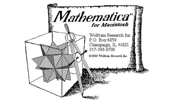 Mathematica startup screen