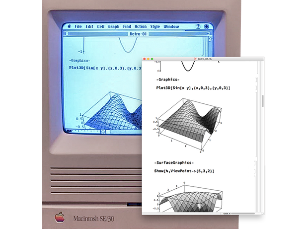 Wolfram Language on early Mac