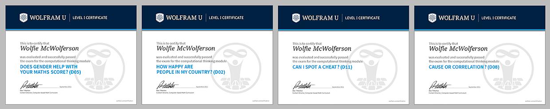 Computational Thinking certificates