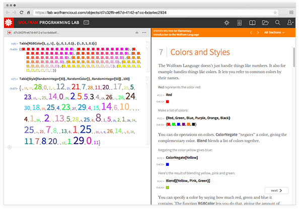 You can read An Elementary Introduction to the Wolfram Language right inside Wolfram Programming Lab