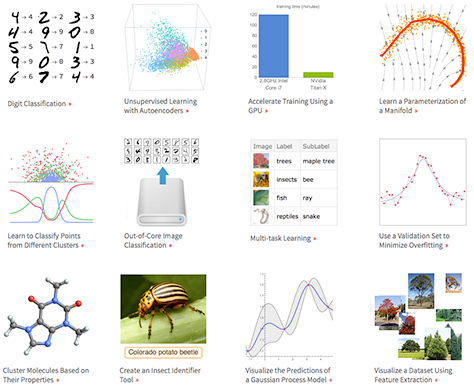 Neural network examples using new Version 11 functionality