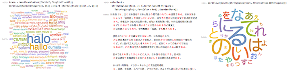 Multilingual functionality in Version 11