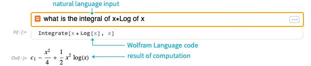 Natural language to code