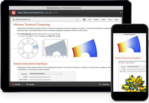 Wolfram Cloud app: native interface to Mathematica Online