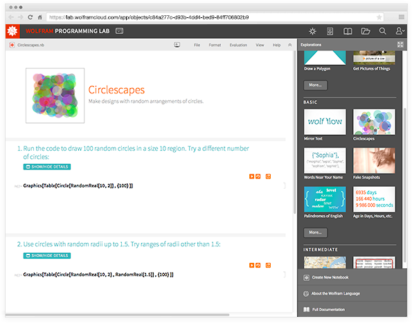 An Exploration in Wolfram Programming Lab