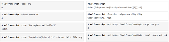 WolframScript provides a simple, flexible interface to the Wolfram Language