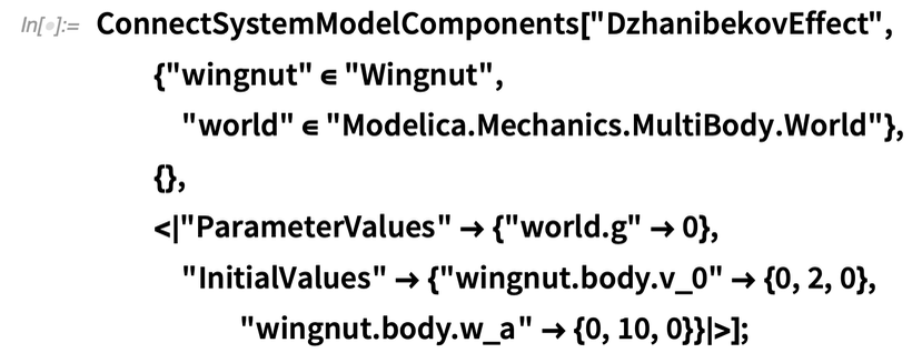 ConnectSystemModelComponents